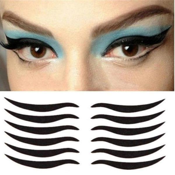 48pcs Eyeliner Sticker Wigs