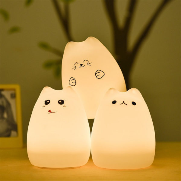 Kitty Cat Led Colorful Night Lamp